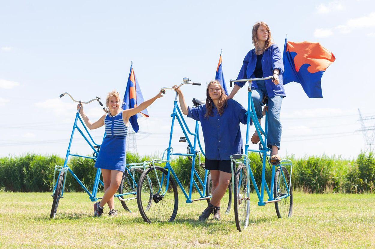 6 fietsers