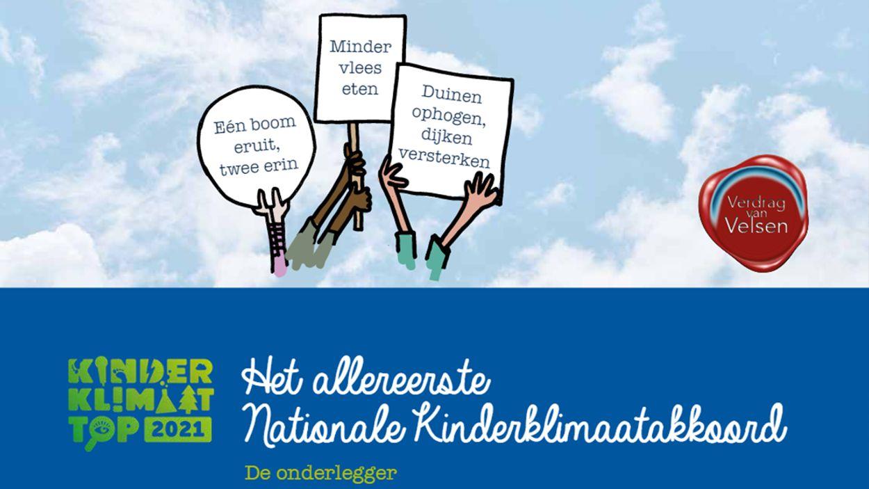 Afbeelding van Kinderen overhandigen allereerste Kinderklimaatakkoord
